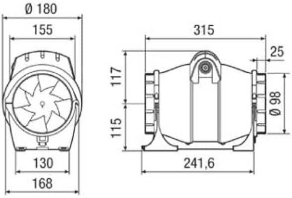 elicent fan axm 100 boyut
