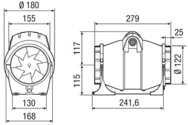 elicent fan axm 125 boyut