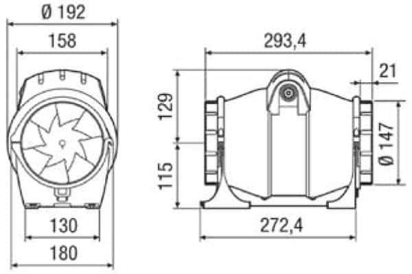 elicent fan axm 150 boyut