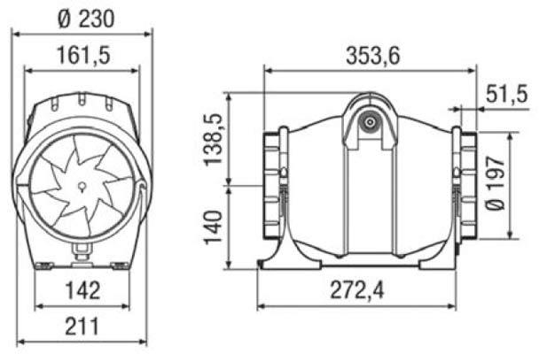 elicent fan axm 200 boyut